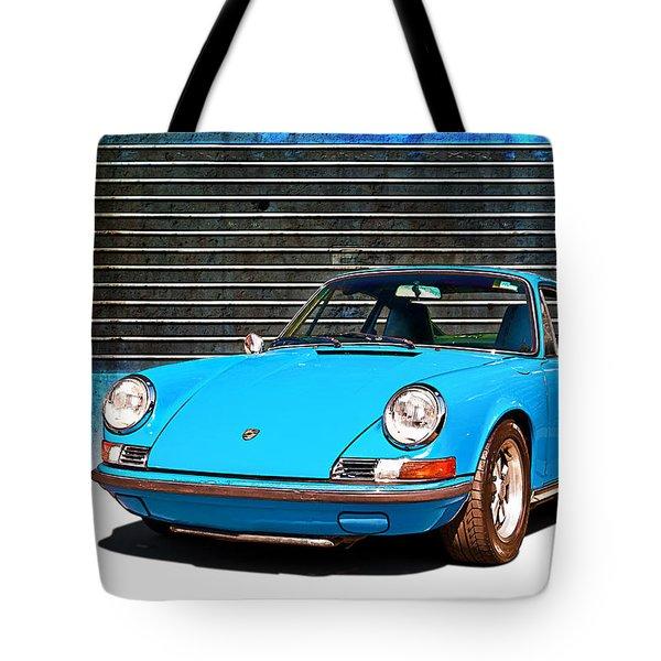 Blue Porsche 911 Tote Bag