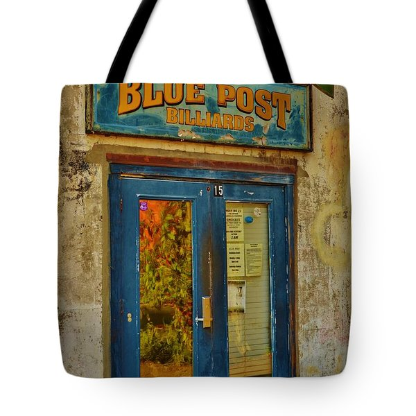 Blue Post Billiards Tote Bag
