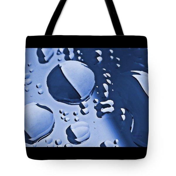 Blue Rain  Tote Bag by Chris Berry