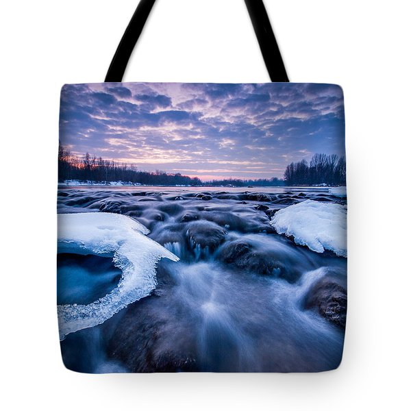 Blue Rapids Tote Bag by Davorin Mance