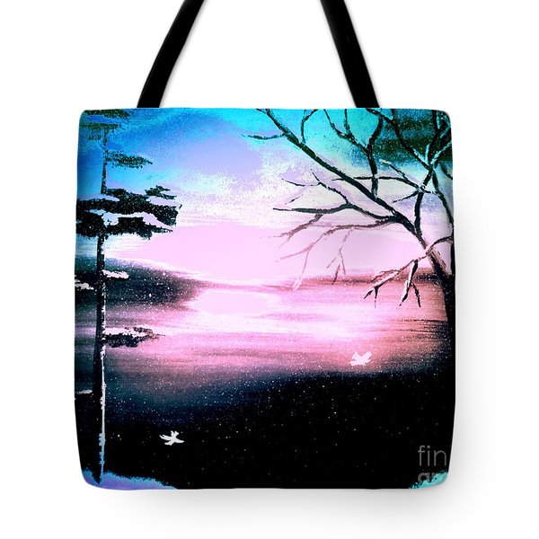 Blue Ray Tote Bag