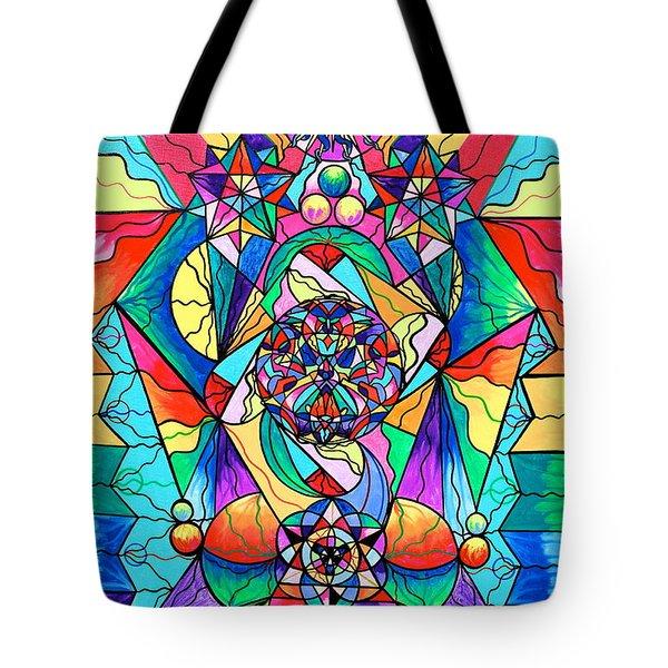 Blue Ray Transcendence Grid Tote Bag