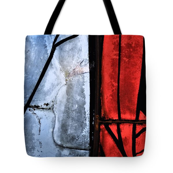 Tote Bag featuring the photograph Blue Red And Blue by Marianne Campolongo
