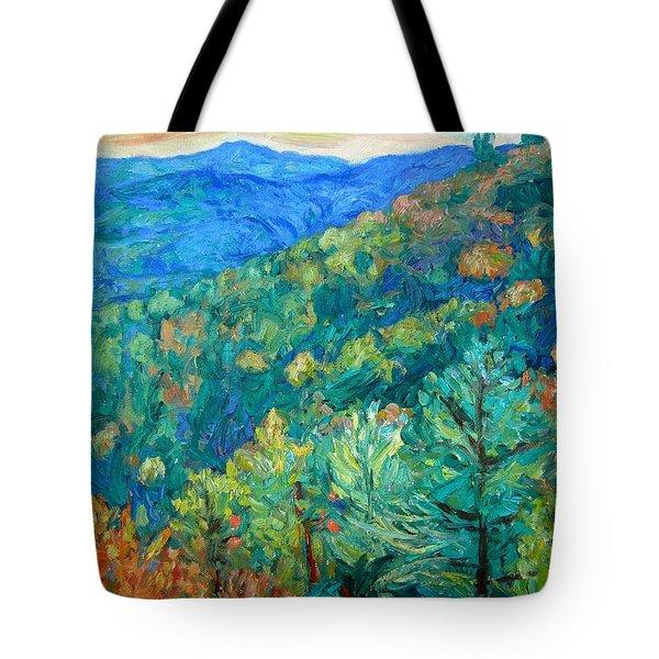Blue Ridge Autumn Tote Bag by Kendall Kessler