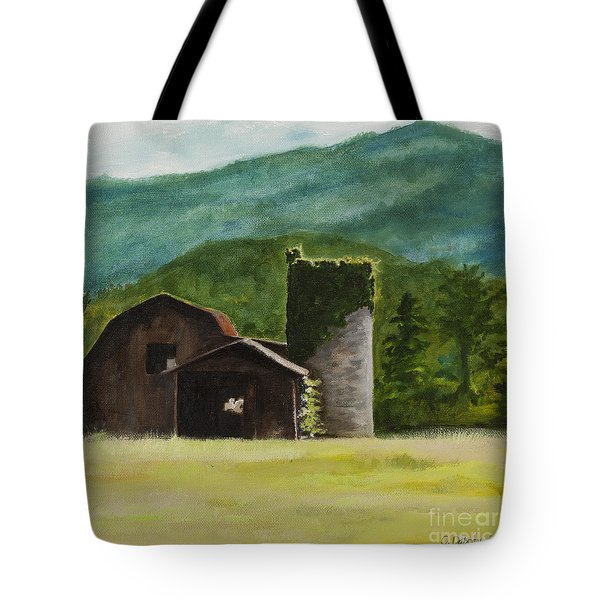 Blue Ridge Barn Tote Bag by Carla Dabney