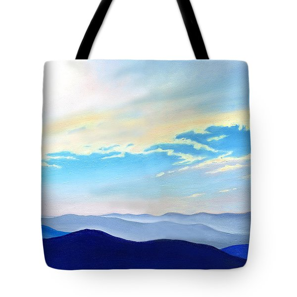 Blue Ridge Blue Above Tote Bag