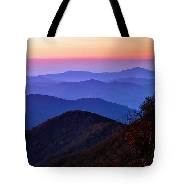 Blue Ridge Dawn Tote Bag by Jaki Miller