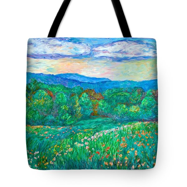Blue Ridge Meadow Tote Bag by Kendall Kessler