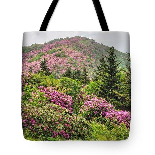Blue Ridge Mountain Rhododendron - Roan Mountain Bloom Extravaganza Tote Bag