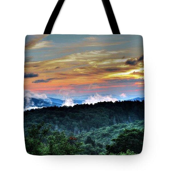 Blue Ridge Mountain Sunrise  Tote Bag