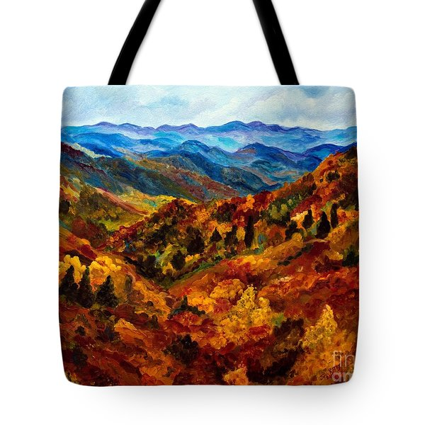 Blue Ridge Mountains In Fall II Tote Bag by Julie Brugh Riffey