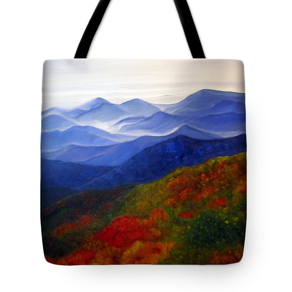 Blue Ridge Mountains Of West Virginia Tote Bag by Katherine Miller