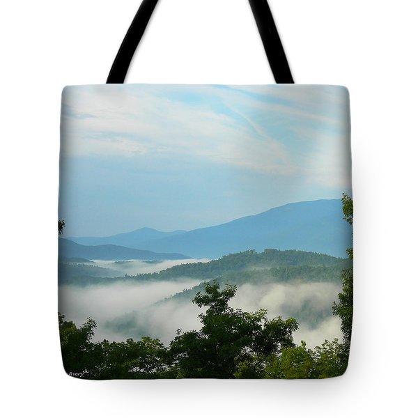 Blue Ridge Mountains Tote Bag by Pat McGrath Avery