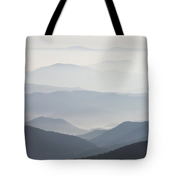 Blue Ridge Mountains View From Roan Mountain Balds Tote Bag