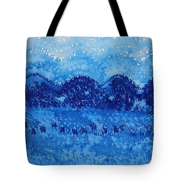 Blue Ridge Original Painting Tote Bag by Sol Luckman