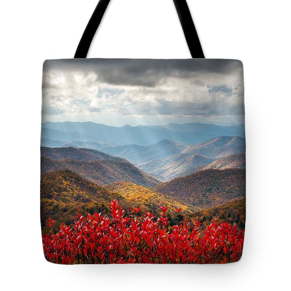 Blue Ridge Parkway Fall Foliage - The Light Tote Bag