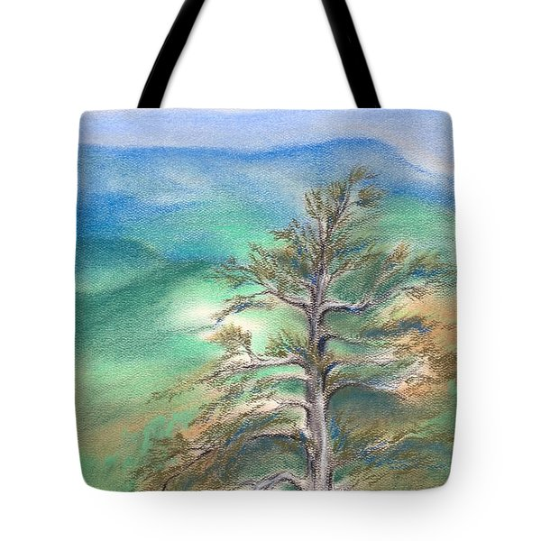 Blue Ridge Pine Tote Bag by MM Anderson