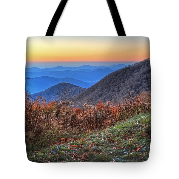 Blue Ridge Sunrise Tote Bag by Jaki Miller