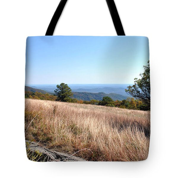 Tote Bag featuring the photograph Blue Ridge View by Kelly Nowak