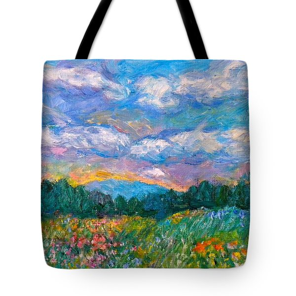 Blue Ridge Wildflowers Tote Bag