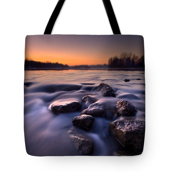 Blue River Tote Bag by Davorin Mance