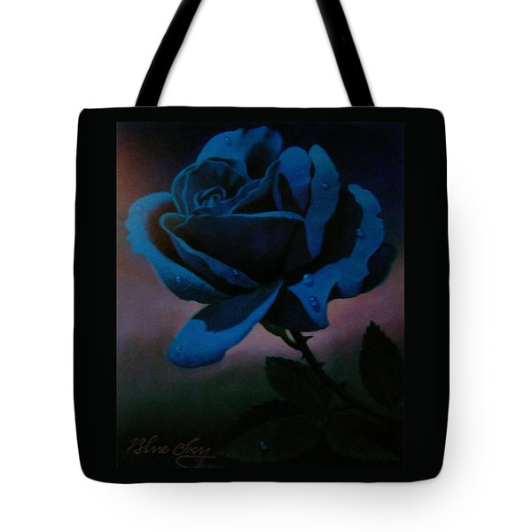 Blue Rose Tote Bag by Blue Sky