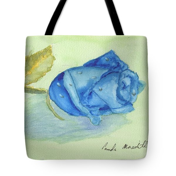 Blue Rose Tote Bag by Pamela  Meredith