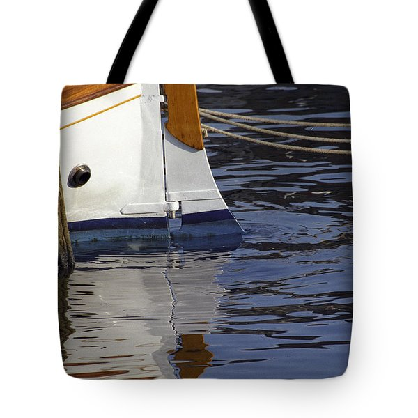 Tote Bag featuring the photograph Blue Rudder by Susie Rieple