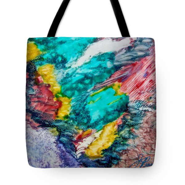 Tote Bag featuring the painting Blue Rush by Joan Reese