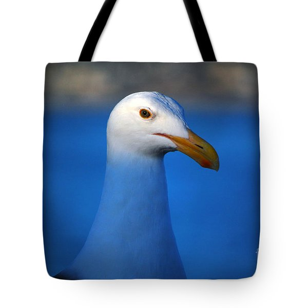 Blue Seagull Tote Bag by Debra Thompson