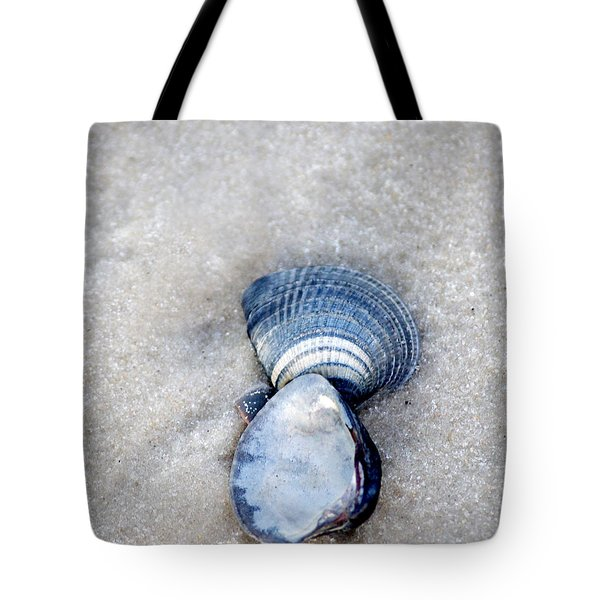 Blue Seashells Tote Bag