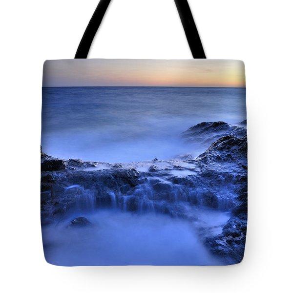 Blue Seaside Tote Bag by Guido Montanes Castillo