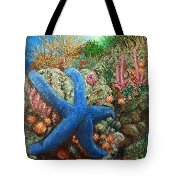 Blue Seastar Tote Bag
