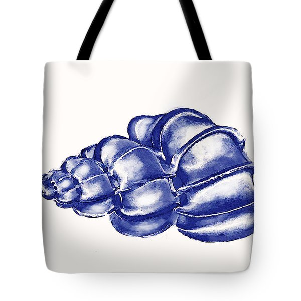 Tote Bag featuring the digital art Blue Shell by Jane Schnetlage