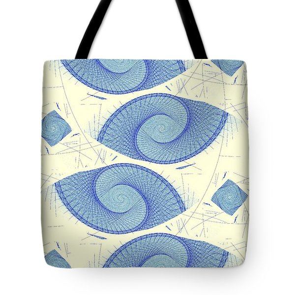 Blue Shells Tote Bag by Anastasiya Malakhova