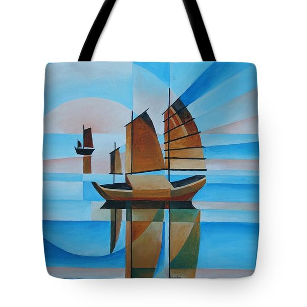 Blue Skies And Cerulean Seas Tote Bag