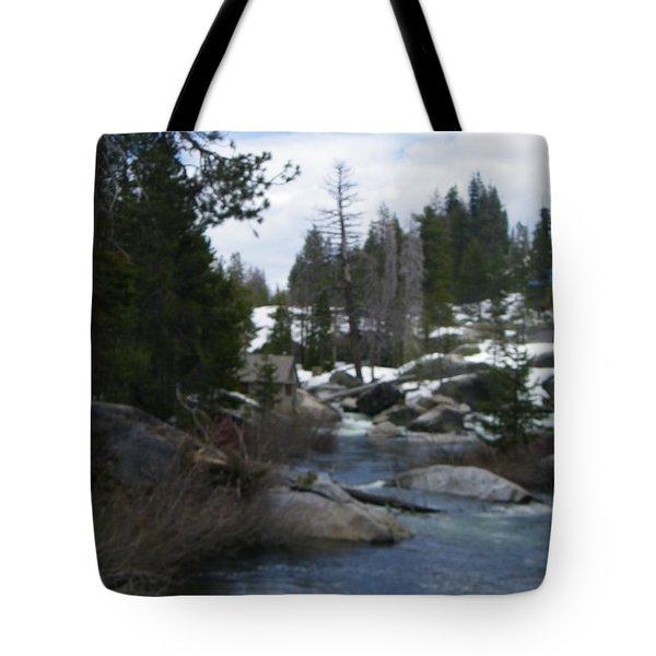 Tote Bag featuring the photograph Blue Skies Of Winter by Bobbee Rickard