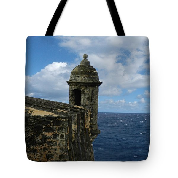 Blue Skies On The Horizon Tote Bag