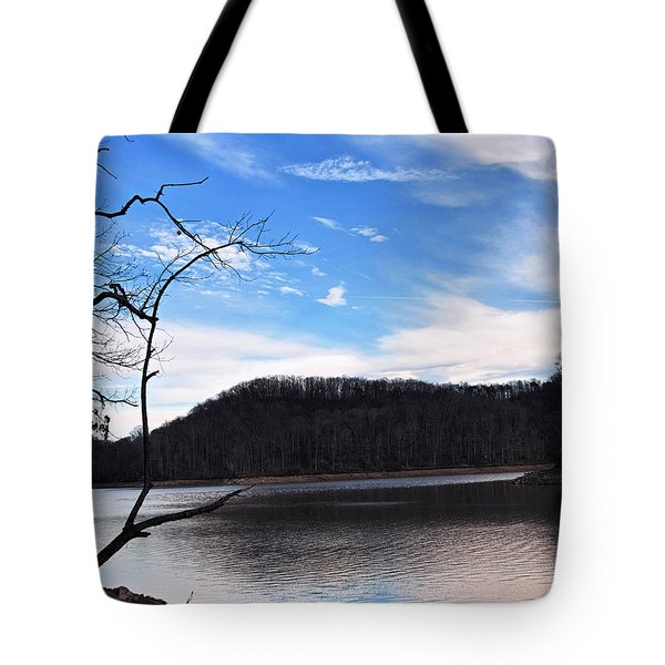 Blue Skies Over Beech Fork Lake Tote Bag