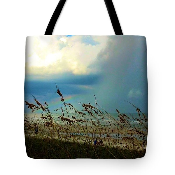 Blue Sky Above Tote Bag