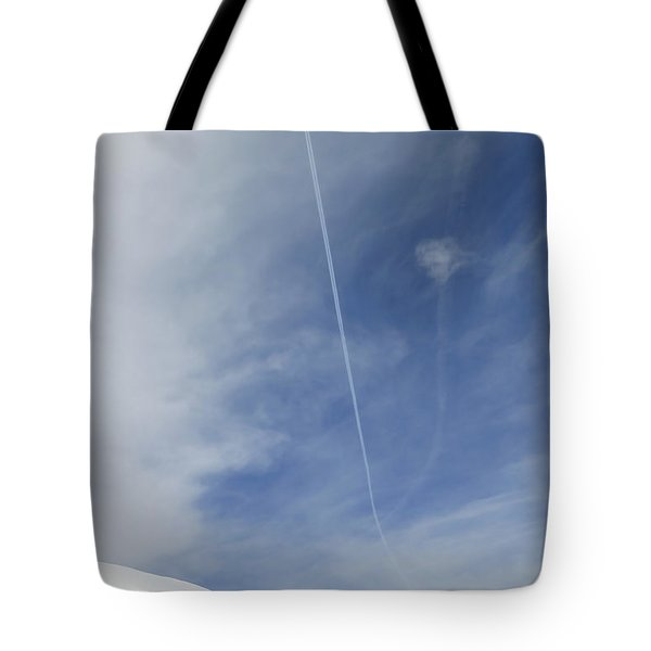 Blue Sky And Snow Tote Bag