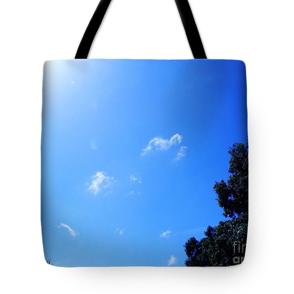 Blue Sky And Sunshine Tote Bag