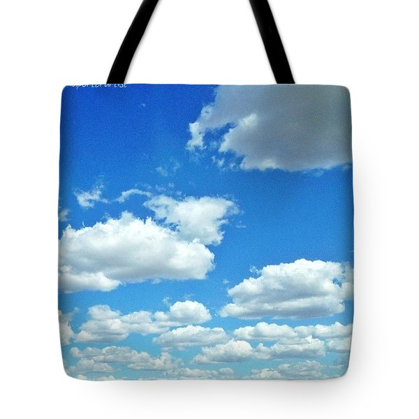 Blue Sky And White Clouds Tote Bag
