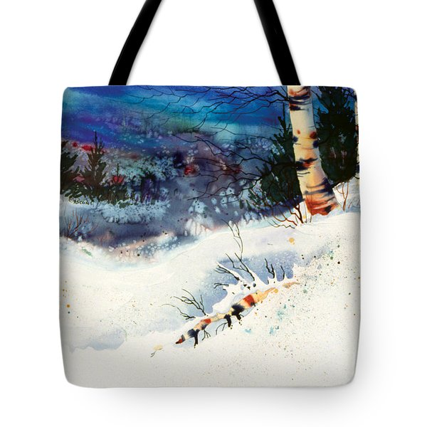 Blue Sky Birch Tote Bag