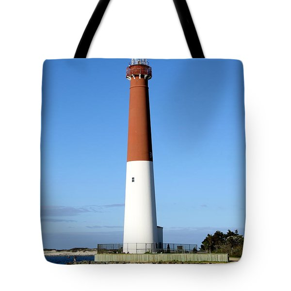 Blue Sky Blue Sea  And Barnegat Light Tote Bag by Christiane Schulze Art And Photography
