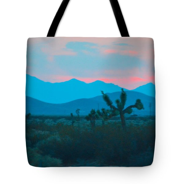 Blue Sky Cacti Sunset Tote Bag
