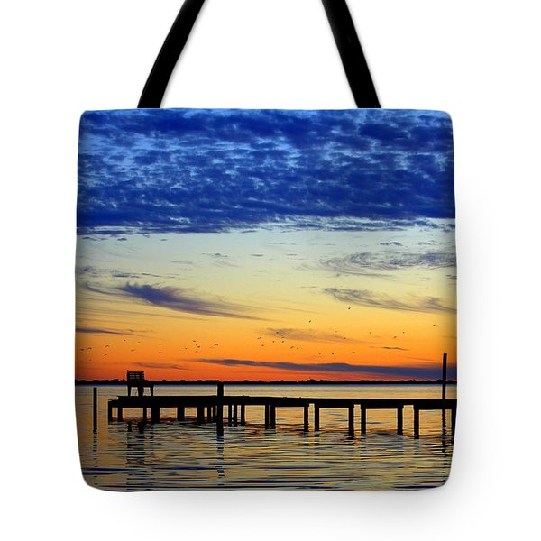 Tote Bag featuring the photograph Blue Sky by Faith Williams