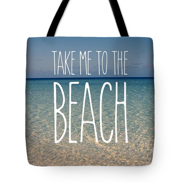 Blue Sky Golden Beach Sand Calm Ocean Waters Tote Bag