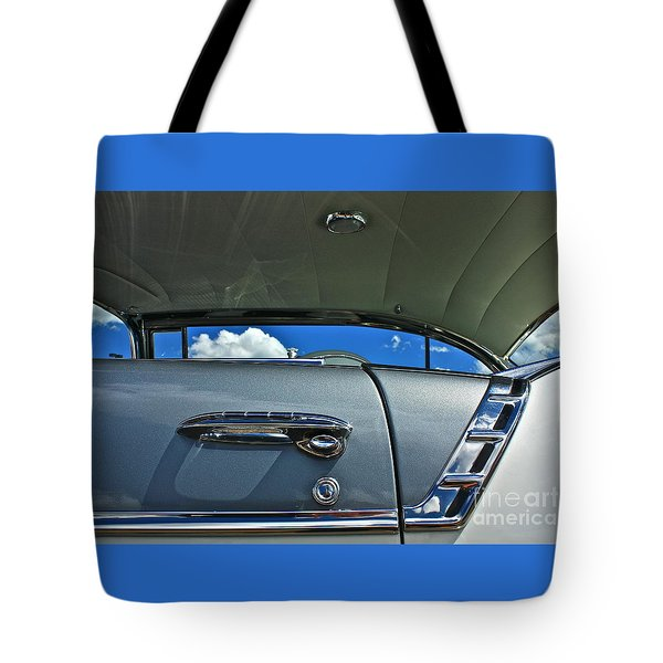 Tote Bag featuring the photograph 1956 Chevy Bel Air by Linda Bianic