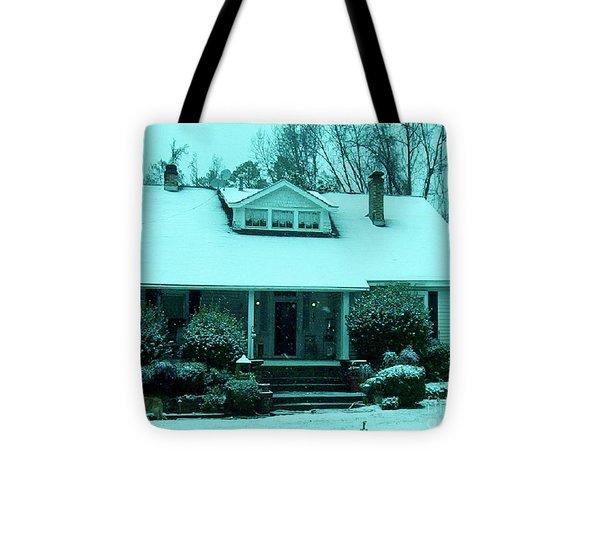 Blue Snow  Tote Bag by Eloise Schneider